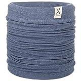 maximo Jersey GOTS Kinder Multifunktionstuch Sommerschal Kinderschal Schlauchschal Stirnband Bandana (One Size - blau)
