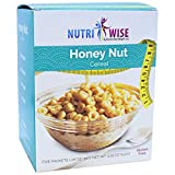 NutriWise - High Protein Diet Cereal | Honey Nut | Low Calorie, Low Fat, Low Sugar ( 5/Box )