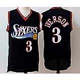 YIXUAN Hombres Jersey Camiseta # 3 Allen Iverson Philadelphia 76ers Mitchell y Ness Men's Athletics...