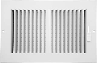 Accord ABSWWH2106 Sidewall/Ceiling Register with 2-Way Design, 10-Inch x 6-Inch(Duct Opening Measurements), White