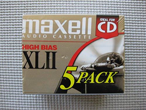 Maxell 139858 60-Minute High Bias Standard Cassette Audio Tape - 5 Pack