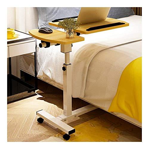Mutmi Pflegetisch Rolltisch Betttisch Couchtisch, auf Rollen, höhenverstellbar und neigungsverstellbare tragbaren Computertisch (Farbe, Ahorn Kirsche),Nussbaum