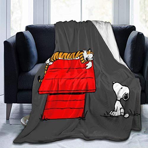 liangchunmei Snoopy Decke Super Soft Velvet Warme, Flauschige Decke Pflegeleichte Ganzjahresqualität 80 '' x60