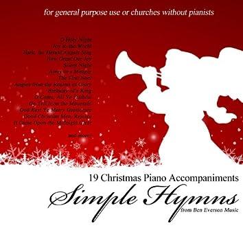 Simple Hymns: Christmas Piano Accompaniments