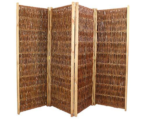 bambus-discount.com Raumteiler aus Weiden Paravent mit H:120 x B:240cm, 4teilig - Klappbare Sichtschutzwand aus Weidenruten günstig kaufen