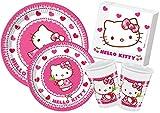 Ciao-Y4307 Hello Kitty Kit Mesa Fiesta, multicolor, 24 personas (Y4307)
