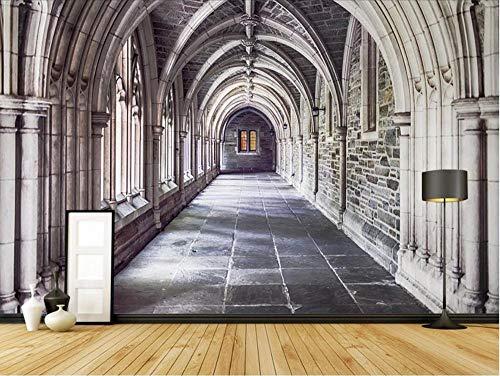 Fotomurales 3D 200x140 cm Arco De Arquitectura Retro Papel pintado no tejido Decoración de Pared decorativos Murales