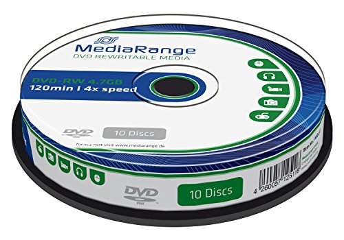 MediaRange MR450 DVD-RW 4,7GB (4x Speed, wiederbeschreibbar, 10 Stück)