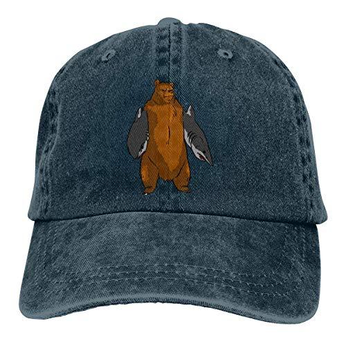Flor de loto fragancia oso con brazo tiburón sombrero elegante deportes ajustable vaquero gorra de béisbol