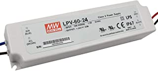 Meanwell LPV-60-24 Sealed Panel Mount 24V 0-2.50A Power Supply with LED Driver