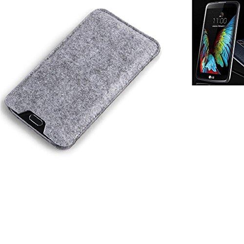 K-S-Trade® Filz Schutz Hülle Für LG Electronics K10 (3G) Schutzhülle Filztasche Filz Tasche Case Sleeve Handyhülle Filzhülle Grau