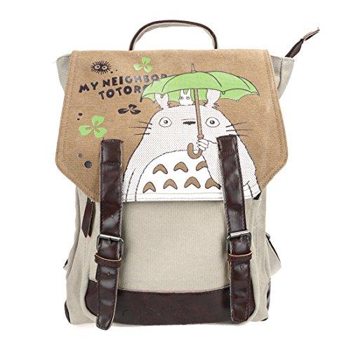 CoolChange Totoro Leinen Rucksack mit großem Innenfach