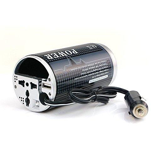 BESTEK 150W Inversor de Corriente 12V a 220V con Un Enchufe Universal y Un Puerto USB