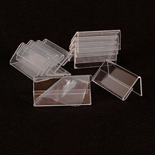 airgoesin 50pcs Mini señal–Soporte de pantalla tienda nombre tarjeta de mesa Top precio etiqueta etiqueta función de atril 4cm x 2cm