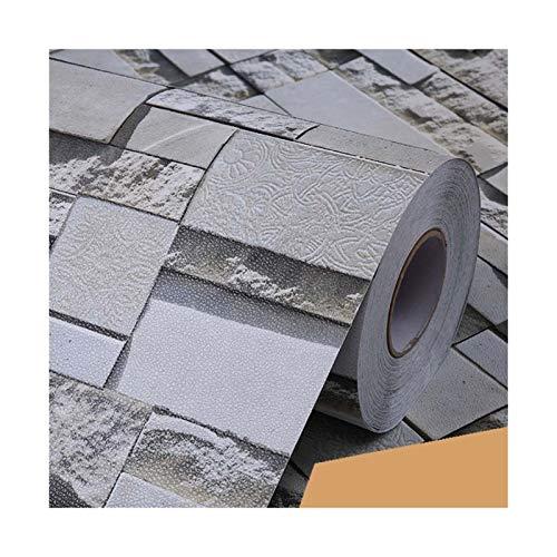 WHYBH HYCSP wasserdichte Brick Vinylwand-Aufkleber Modernes Wohnzimmer Hintergrund Selbstklebende Tapete Küche dekorative Aufkleber (Color : Zw 05, Size : 1m x 40cm)