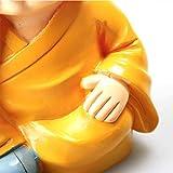 WINOMO 4 Stücke Kleine Mönch Figuren Dekofiguren für Auto, Tischdeko - 2