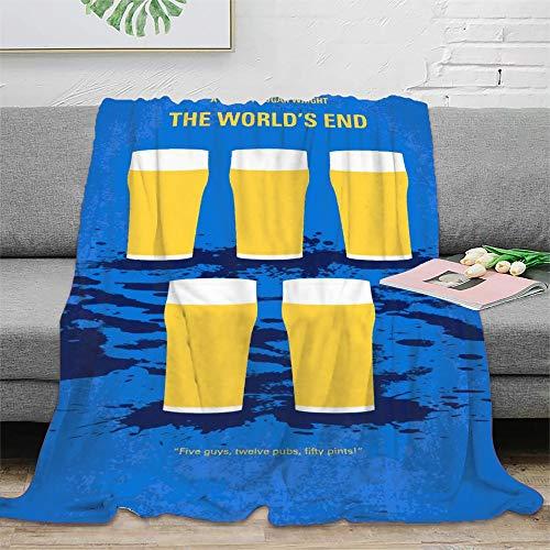 STTYE My The Worlds End Mi Manta de piel sinttica para cama, sof, silla, sala de estar, oficina, viajes, picnic, regalo de 180 x 230 cm