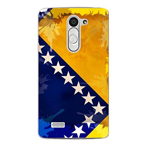 DISAGU Design Custodia Protettiva Cover Case per LG L Bello Custodia Cover–Motivo Bosnia Erzegovina