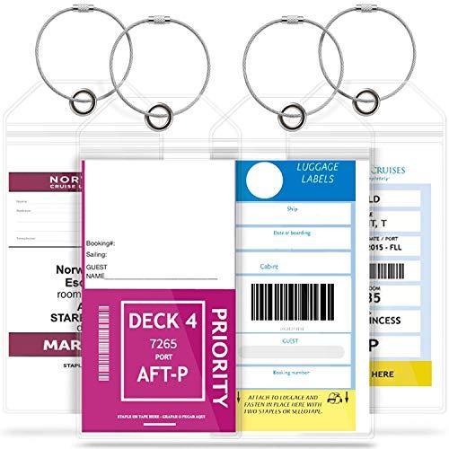 Koffer-Etiketten zur Identifizierung von Gepäck, aus Metall, Marke der Truhe in der Schule, Identifizieren von Namen, Büro, Reise, Zubehör, 4 Stück