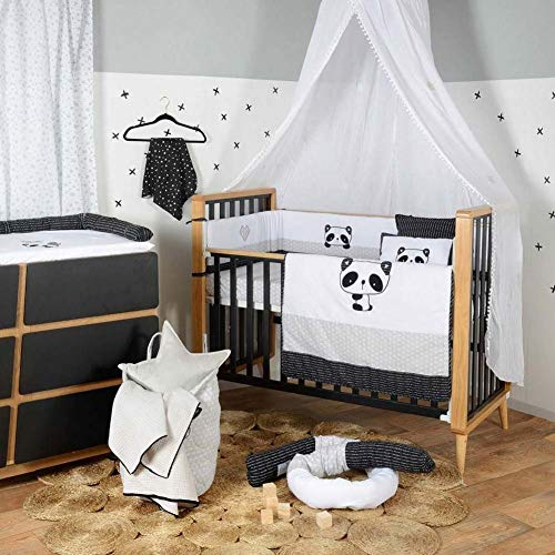 Buy Bargain Black White Panda Collection Crib Bedding Set (3PC + 1 x Diaper Bag)