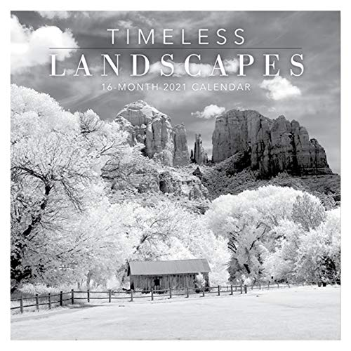 B-THERE 16 Month Premium Wall Calendar 2021 Each Month Displays Full-Color Photograph. Printed on Linen Embossed Heavyweight Paper Stock (Timeless Landscapes)
