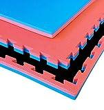 G5 HT SPORT Tatami 100x 100x4 cm in Eva cornici Incluse Rosso/Blu Adatto a Tutti Gli Ambienti Indoor multidiscipline I1 mq