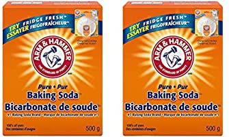 Six [6] Boxes - All Purpose Pure Baking Soda 500 grams (17 ounces) by Arm and Hammer, All Safe and Natural, Excellence...