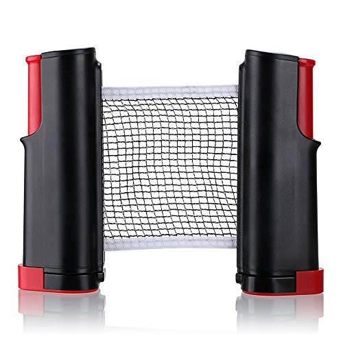 Reemplazo de red de tenis de mesa portátil retráctil rack/PING PONG accesorios (rojo)