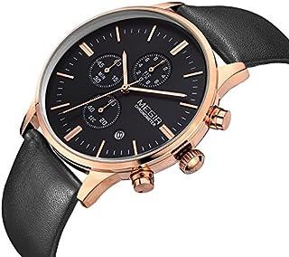 ساعة للرجال من ميجر، سوار جلد، كرونوغراف M-2011-1