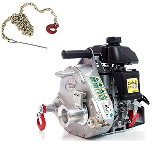 Why Should You Buy Portable Winch PCW5000 Gas-Powered Capstan Winch with PCA-1295 Choker Chain (Bund...