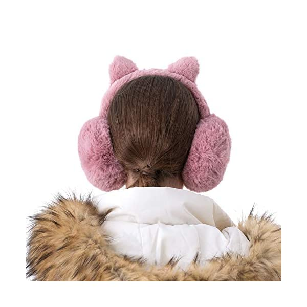 Surblue Cute Animal Earmuffs Winter Warm Outdoor Ear Covers Headband Fur Earwarmer