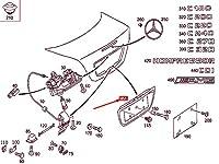 MB C W203 リア ナンバー プレート リセス インサート A20375000819999 NEW GENUINE