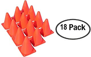 18 Orange Plastic Traffic Cones with Carry On bag by Oojami