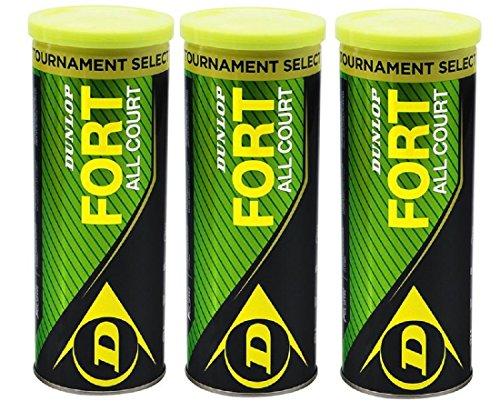 Dunlop FORT ALL COURT tripack 9 balls 3x3