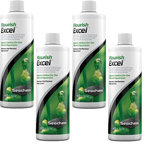 Seachem Flourish Excel 500 botellas de mililitro (paquete de 4)