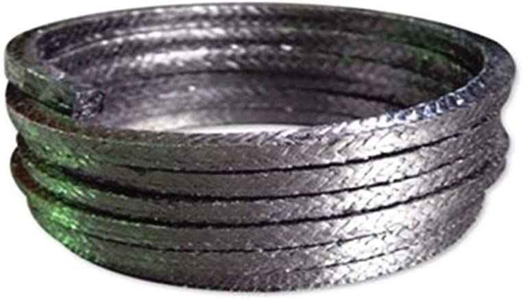 AFexm Flexible Graphite Compression Packing,Compression Packing Seal,Dull Gray,12 x 12 mm Lengte 18.5M