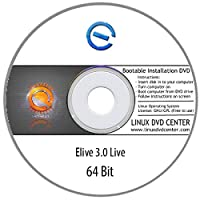 """Elive OS 3.0 """"Beautiful and Powerful"""" (64Bit) - Bootable Linux Installation DVD"""