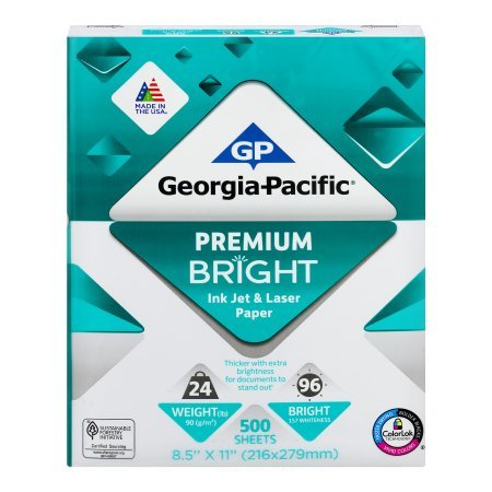 Georgia-Pacific Premium Bright Ink Jet & Laser Paper 500 Sheets