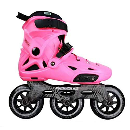 100% Original Power Slide 3110Mm Speed Skates Street Adult Roller Skating Shoes Free Skating Patines Adulto,Pink,40