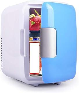 4L Mini Car Fridge Freezer Cooler Warm 12V Portable Icebox, Refrigerated insulation box,Blue