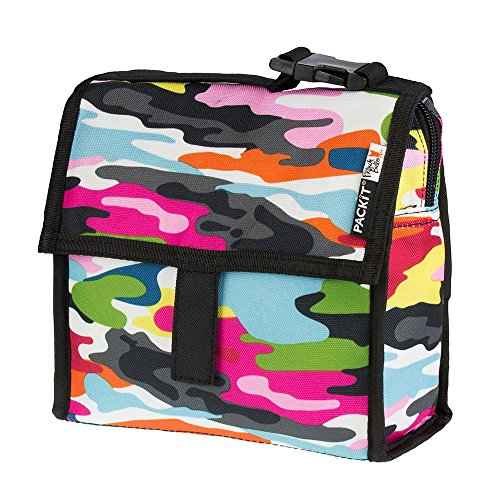PACKIT Kühltasche Einfrierbar Mini Lunch bag, Go, 20.3 x 9.5 x 21 cm, 1.9 Liter
