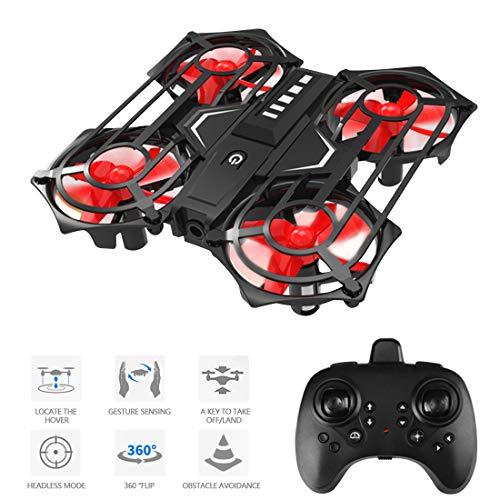 LENDGO Mini Drohne für Kinder und Anfänger, RC Drone mit 3D Flips und Gestenerkennung,Mini Spielzeug drohnen, Höhenlage halten, Headless-Modus, Start / Landung mit Einer Taste