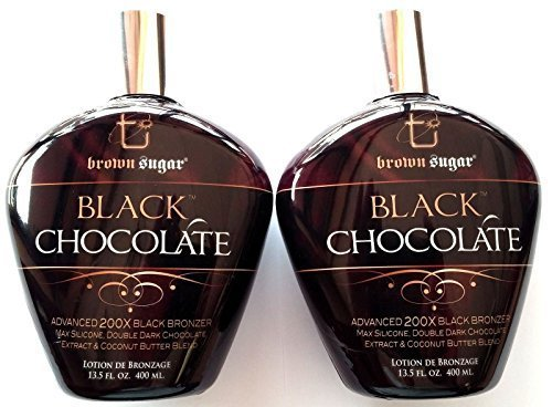Lot of 2 Black Chocolat 200 x Black Lotion bronzante tanning Brown Sugar Tan inc. by Millennium tanning Products
