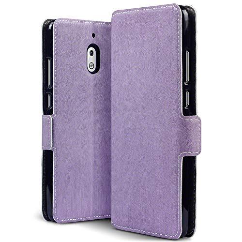TERRAPIN, Kompatibel mit Nokia 2.1 Hülle, Leder Tasche Hülle Hülle im Bookstyle mit Standfunktion Kartenfächer - Lila