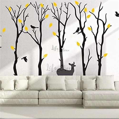 Geiqianjiumai decoratieve takken van het enorme vinylwand van de themakinderkamer van hoge bomen met vogelmuurstickers