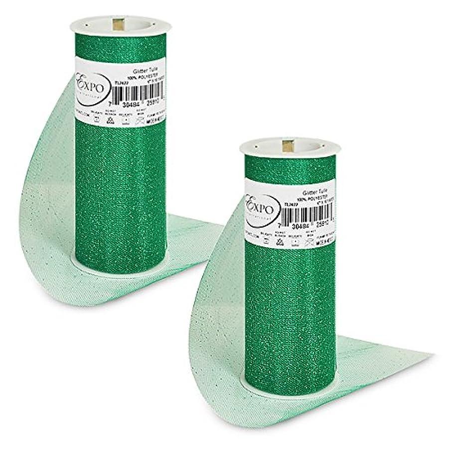 Expo International TL2422EM-2 Glitter Tulle Spool (2 Pack), 6