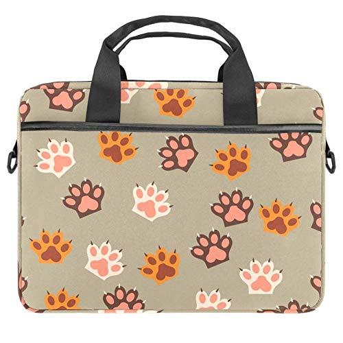 Bolsa de hombro con estampado de huellas de gato con garras, bolsa...