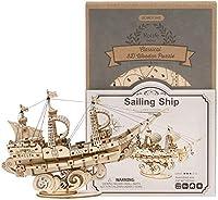 おもちゃ 3 dの木のパズル、DIYの帆船モデルビルディングキットアセンブリのおもちゃの子供と大人のための創造的な贈り物 (Color : Sailing Ship)