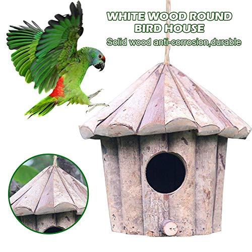 Funihut nestkast, nestkast voor buiten, houten kist voor vogels, nest, huis, voor vogels en vogels, verjaardag, 16 x 16 x 16 cm