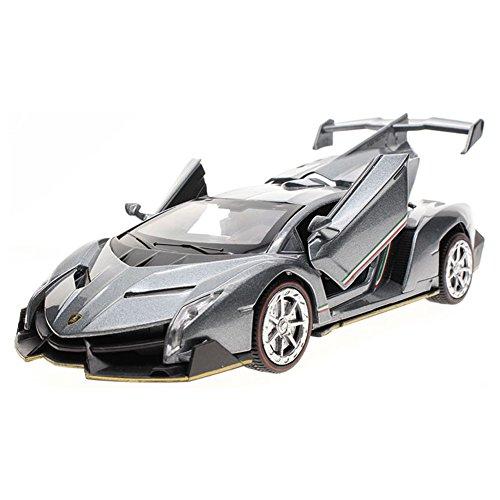 Blancho Kid's Cool Sportwagen Acousto-Optic Alloyed Auto-Modell 1/32 Für Kinder ( Gris )